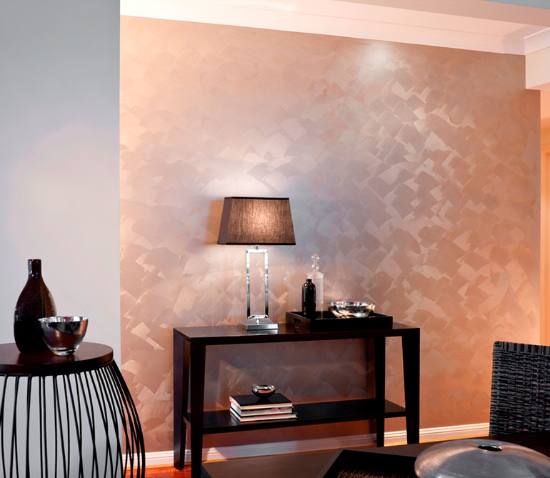 Metallic paints destination living - Decoracion de interiores pintura ...