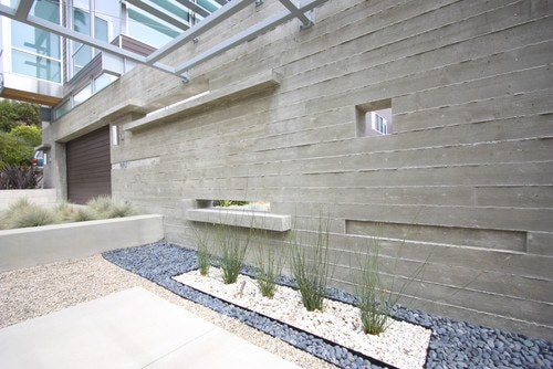 Concrete as a featured material externally and internally destination living - Flexible exterior paint ideas ...