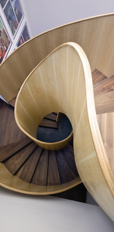 Plywood Balustrade Staircase