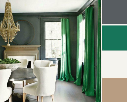 Green with envy for an exquisite shade destination living Interior design color palettes