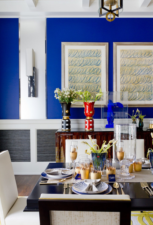 contemporary-dining-room-blue