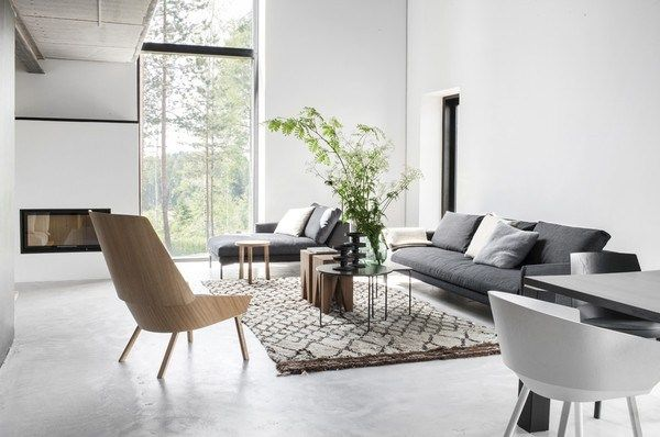 Concrete in interior design destination living - Deco loungeeetkamer ...