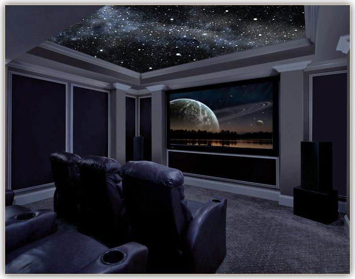 Home theatre destination living for Small theater room ideas