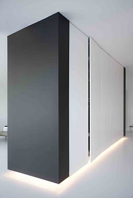 Storage cupboards with feature lighting