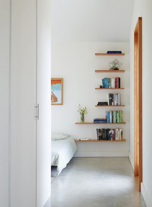 modern shelves for small spaces