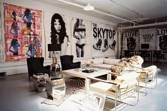 Rock and Roll Themed Industrial loft Interior