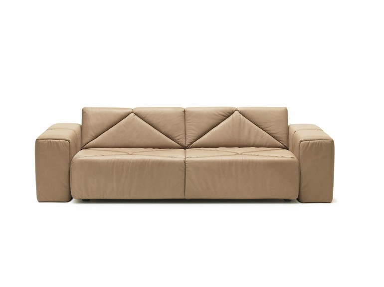 Brown Modular Leather Sofa by De Sede