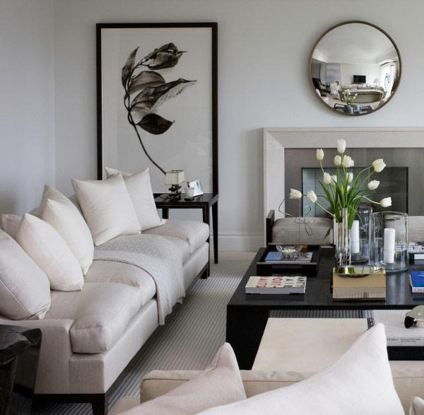 Large Cream Sofa in Contemporary Living Area