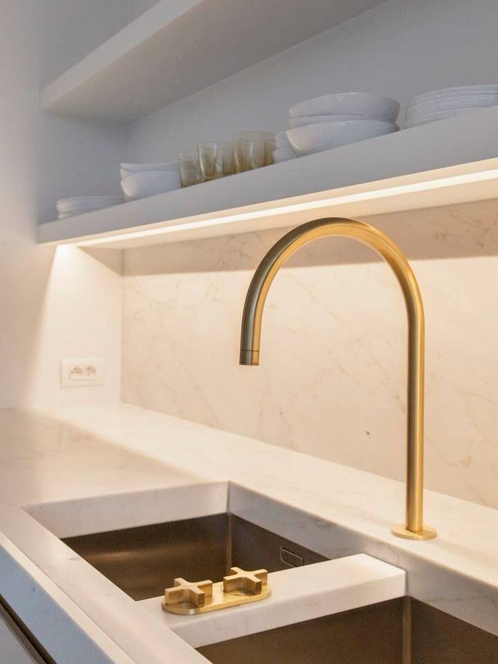 Modern Gold Kitchen Tapware Faucet