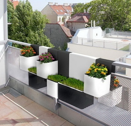 Modern Planters for Narrow Balconies