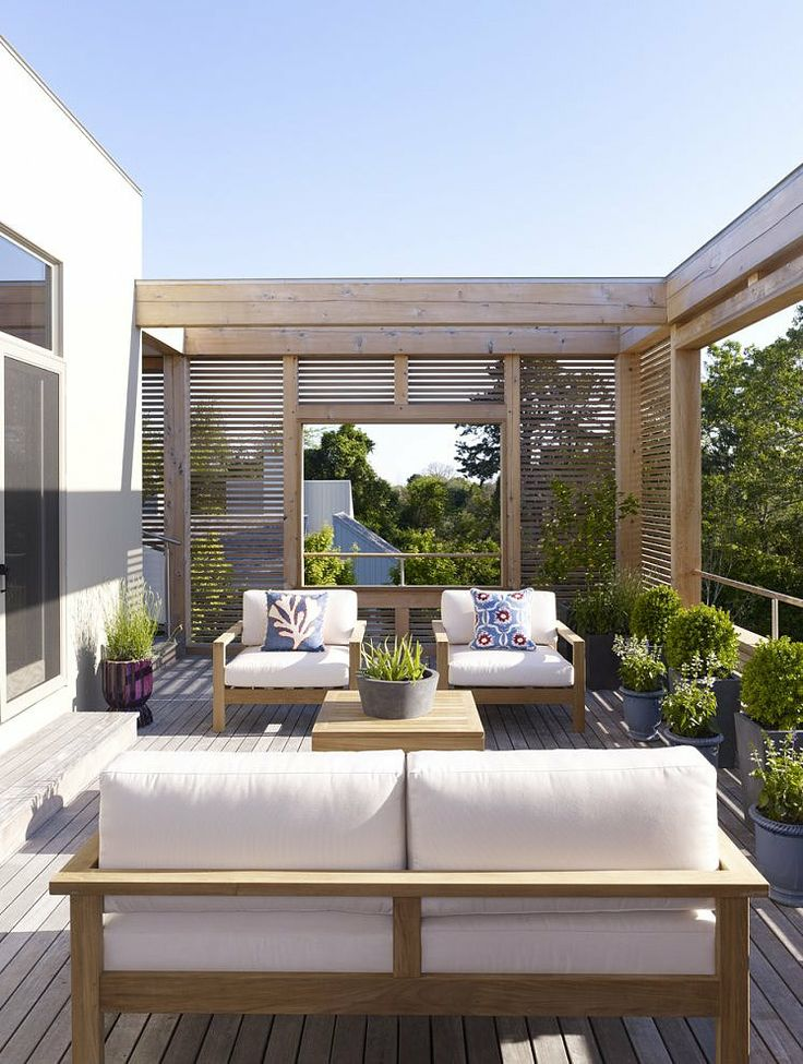 Terrace in the Hamptons