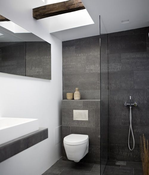 Easy home renovation ideas for brightening up a tired for Modern simple bathrooms