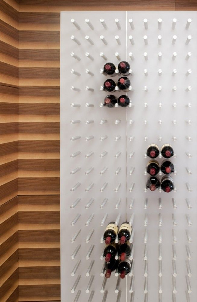 Wine cellars and alcohol storage for homes big small destination living - Small space wine racks design ...