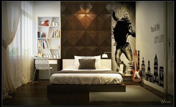 Teenage room interior design idea