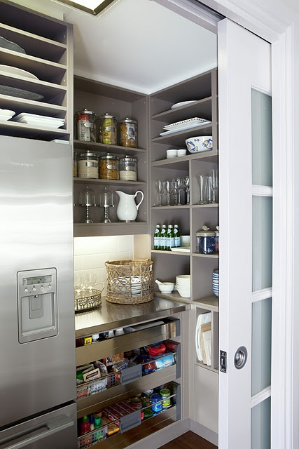 Butler's Pantry With Vertical Shelving