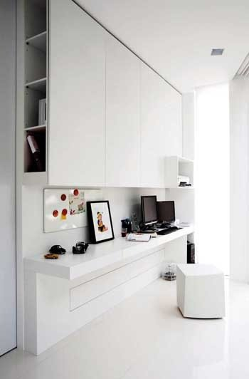 Clever Storage Idea Study Nook