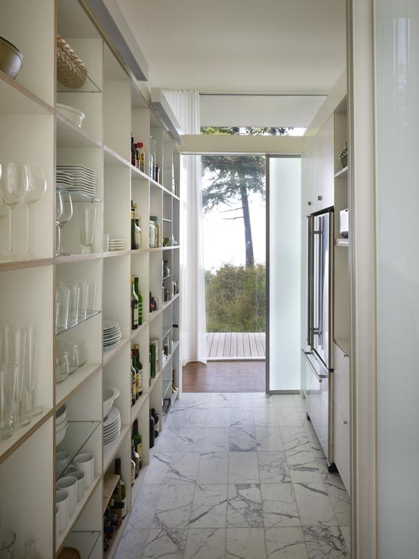 Open Shelves Make The Most Of This Narrow Alcove Perfect: Tips For Creating A Stunning Pantry Design