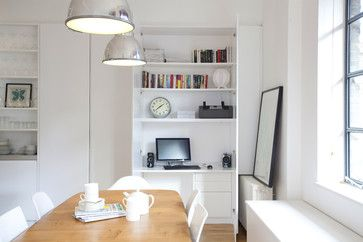 London Modern Dining Area Featuring a Study