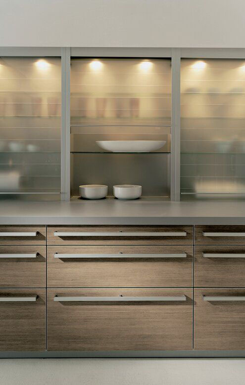 Shelf Cabinets With Doors In Natural Color