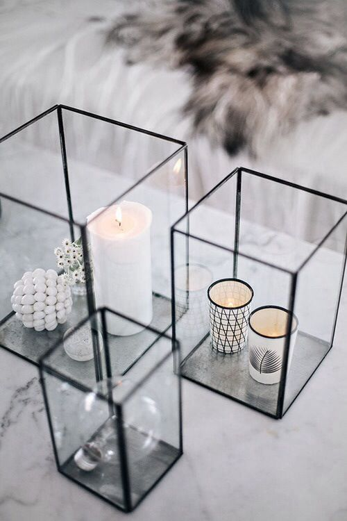 Rectangular Glass Vases Decor Idea