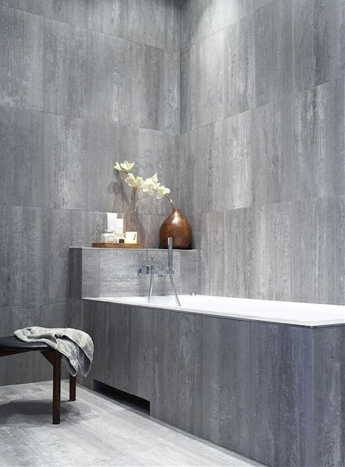 Serene grey bathroom