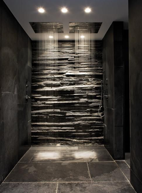 Slate and stone bathroom