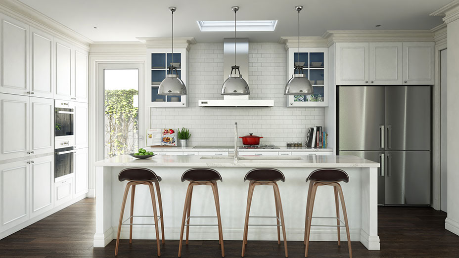 Aberfeldie project review destination living for Overhead kitchen cupboards