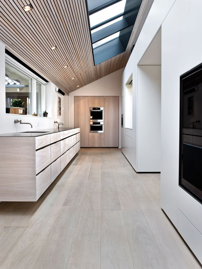 Modern Kitchen Design with Timber Flooring