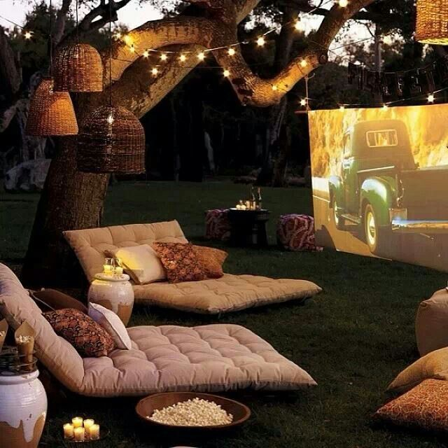 Perfect Outdoor Movies for a Summer evening.