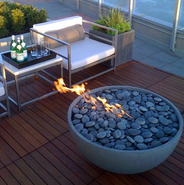 Stone Fire Pits - Great for Winter