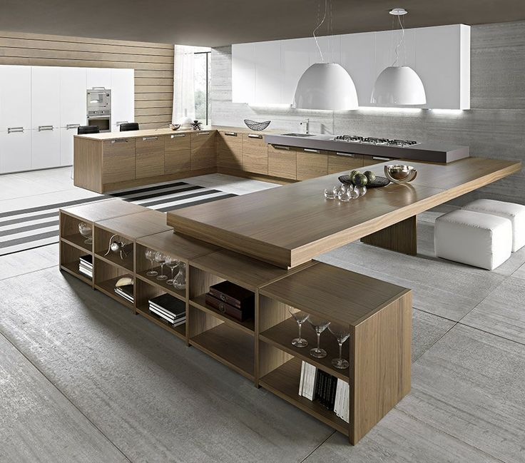 Superior Clever Kitchen Storage Ideas. 1 Space Age Kitchen