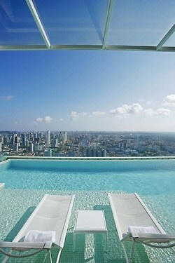 19 - sun lounges and infinity pool