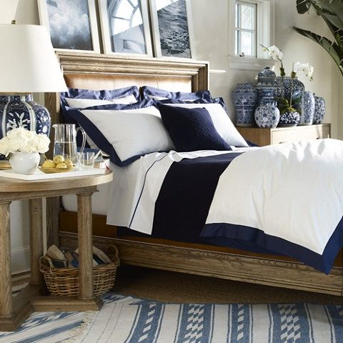 Hamptons style fluffy bed