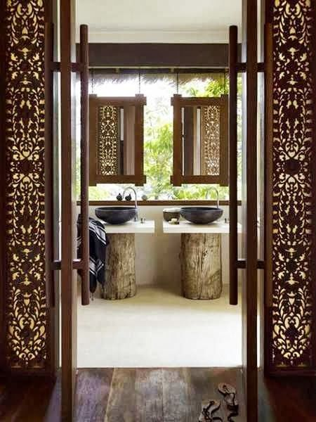 Resort style living destination living for Thai style bathroom ideas