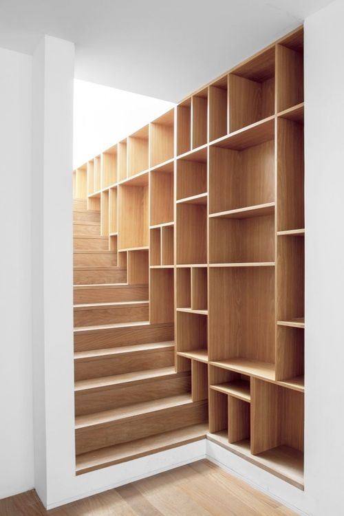 5 visual bookshelf staircase
