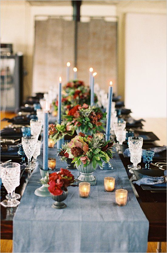 13 black and slate christmas table decorations