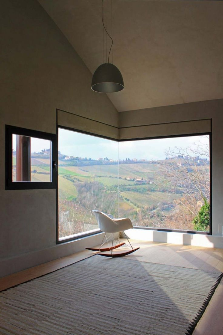 17 picture window with rocking chair