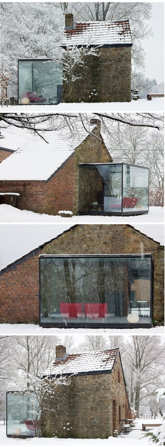 19 Glass cube to stone cottage