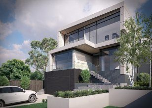 Corner block house design duplex design home builders for Sloping block house designs