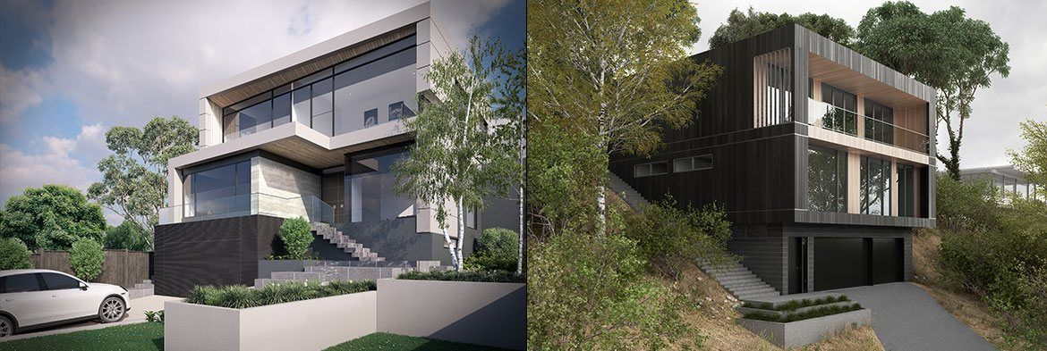 Sloping block house designs sloping block builders for Slope home design