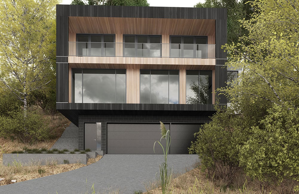 sloping block house designs sloping block builders architects