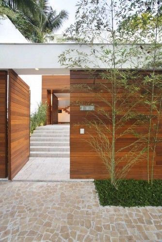 stylish-natural-wood-fences-gate Family Compound House Designs on pool house design, residential compound design, horse ranch house design, family home office design,