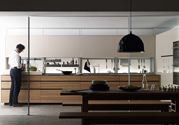 Eco-sustainability stream line custom kitchen by Valcucine