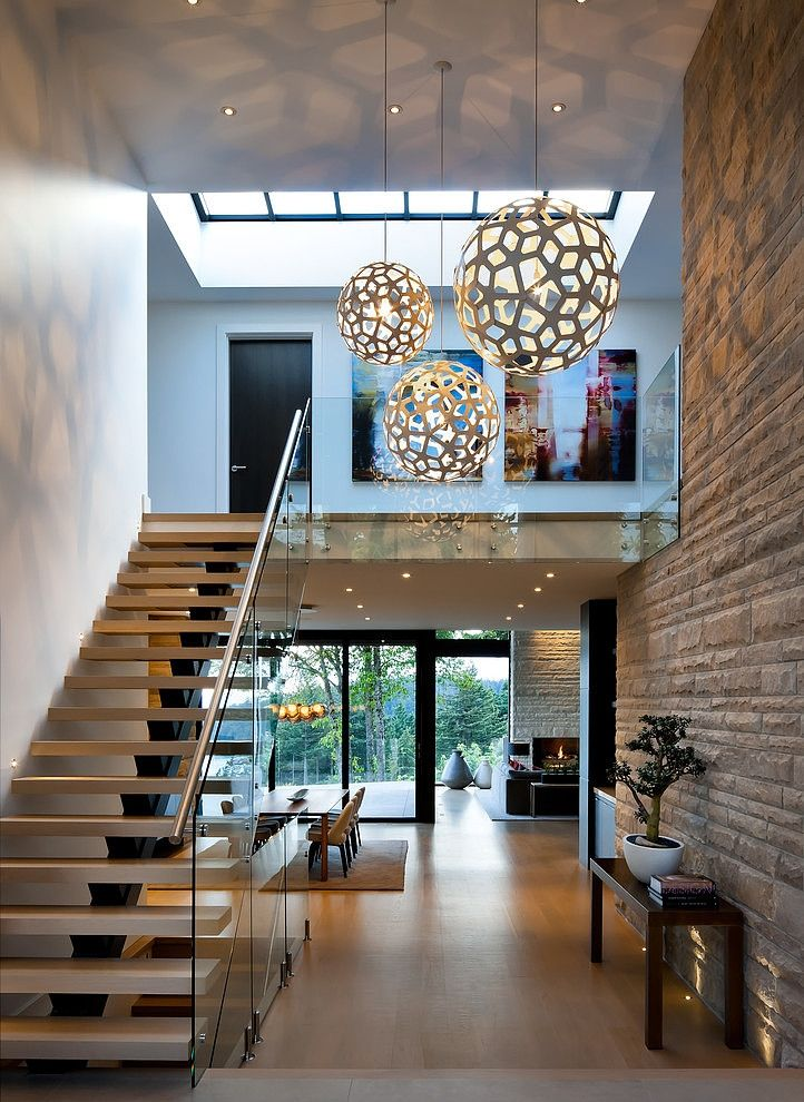 Entrance And Stairs Of West Vancouver Residence By Claudia Leccacorvi