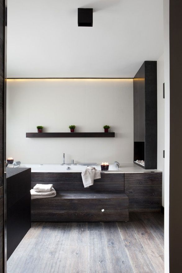 Timber themed bathroom