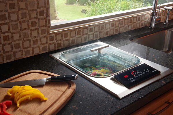 Wolf in built electric steamer cooktop