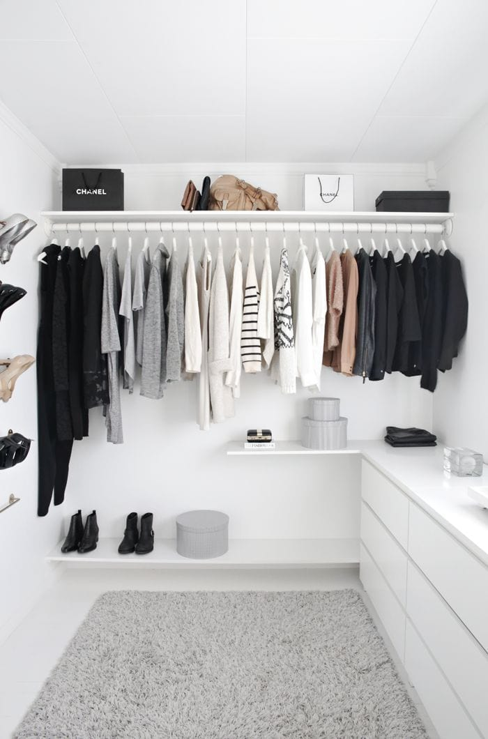 Perfect White Minimalist Closet