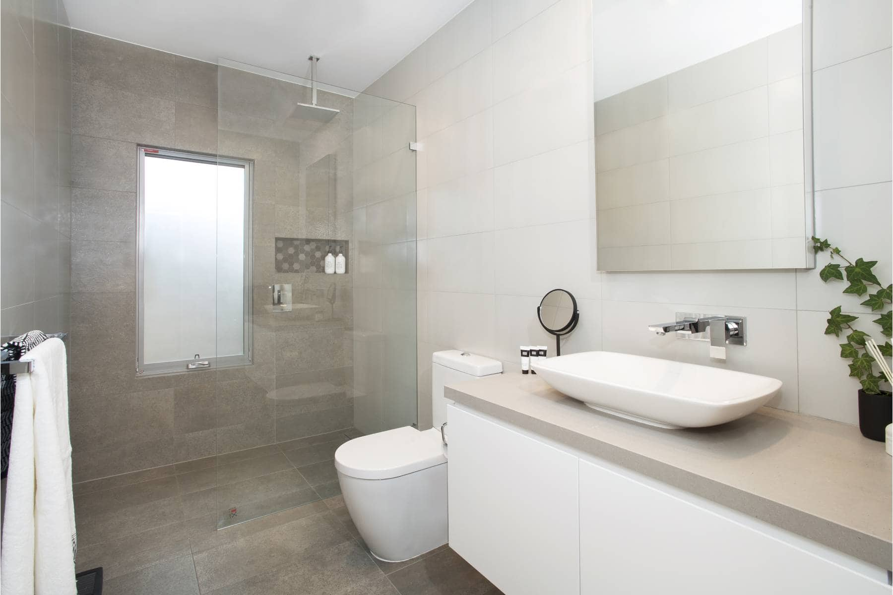 A bathroom after a destination living renovation